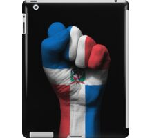 Flag of Dominican Republic on a Raised Clenched Fist  iPad Case/Skin