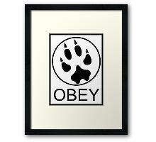 Furry Propaganda : OBEY Framed Print