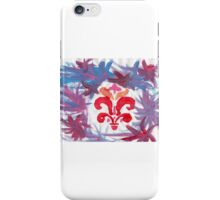 French Motif Stencil Abstract Acrylic Painting iPhone Case/Skin