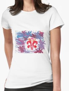 French Motif Stencil Abstract Acrylic Painting T-Shirt