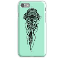 Mint Green Jellyfish Mandala iPhone Case/Skin
