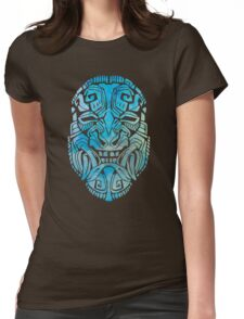 Mesoamerica Mask Watercolor Womens Fitted T-Shirt