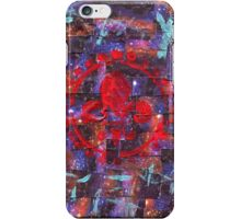 Galaxy Tape Mixed Media Fleur de Lis Acrylic Painting iPhone Case/Skin