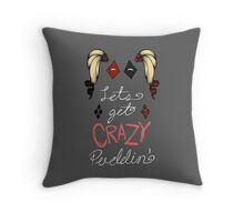 Lets get crazy!-original colors Throw Pillow