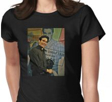 Elvis in Wax Womens Fitted T-Shirt