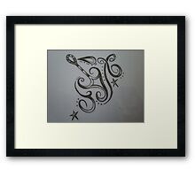 Not sure really? Framed Print