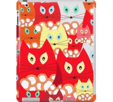 red cats iPad Case/Skin