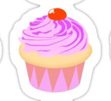 Pastel Cupcake Pattern Sticker