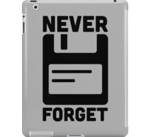 Never Forget Floppy Disk  iPad Case/Skin