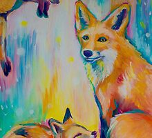 Colourful Fox  by Emily Louise Heard
