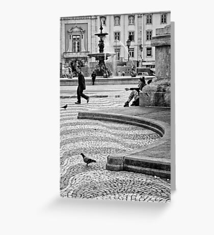 Streets are theaters Greeting Card