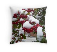 Christmas Berries Throw Pillow