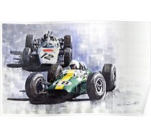 Lotus vs Honda Mexican GP 1965 Poster
