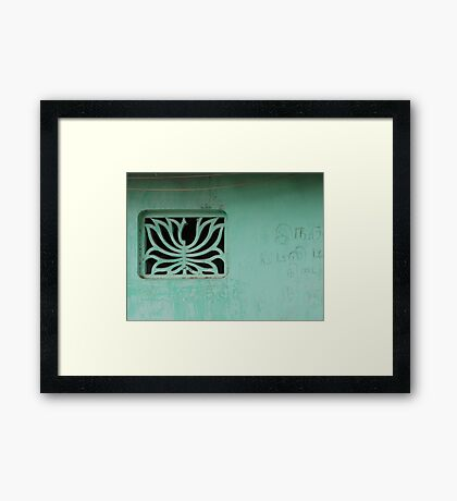 Wall lines Framed Print