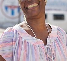Happy smiling lady, Havana, Cuba. by Andy Kilmartin
