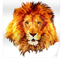 Low Poly Lion Poster