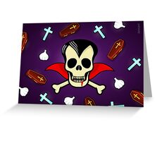 DRACULA VAMPIRE HORROR SKULL Greeting Card