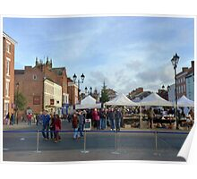 The town square, Ludlow, UK Poster
