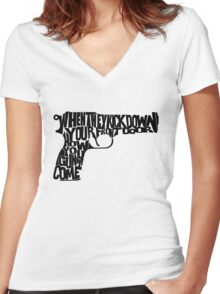 Guns of Brixton Women's Fitted V-Neck T-Shirt