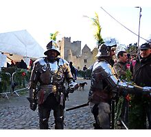 Knights in shining armour! Photographic Print