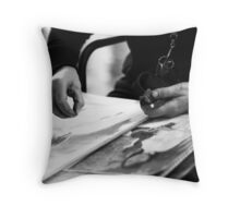 Street Artiste Throw Pillow