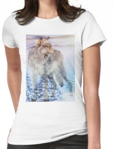 Snowy Forest Womens Fitted T-Shirt