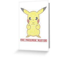 The pokemon Master Greeting Card