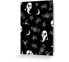 MOON & STARS WITCHCRAFT Greeting Card