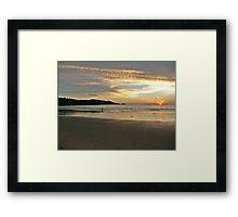 Destruction to Paradise - a sunset at a Phuket beach Framed Print