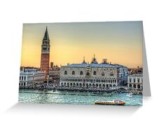 Early Evening Light in Piazza San Marco Greeting Card