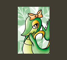 Cute Snivy with orange ribbon Womens Fitted T-Shirt