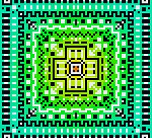 Square Pixel Pattern by Ulla Holm