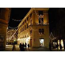 Christmas in Siena-Tuscany Photographic Print