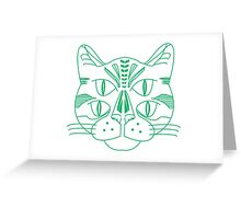Tron Cat Greeting Card