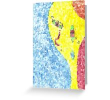 Distant And Surreal Number Two Greeting Card