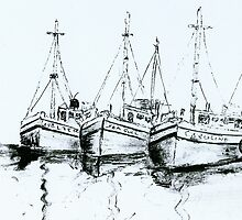BOATS IN HARBOUR by sharmabob