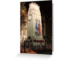The Cenotaph at night Greeting Card