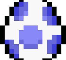 Blue Pixel Yoshi Egg by moonluner