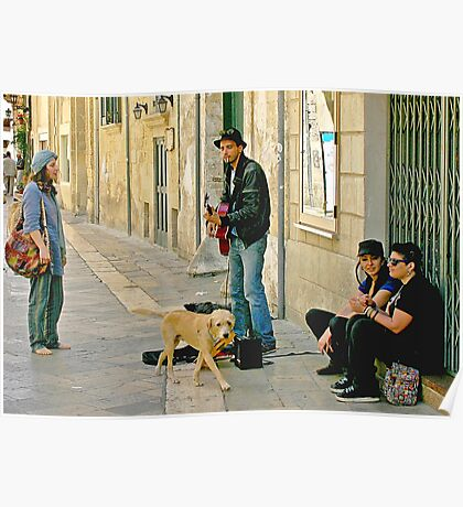 Singing for his Supper - Lecce Italy Poster
