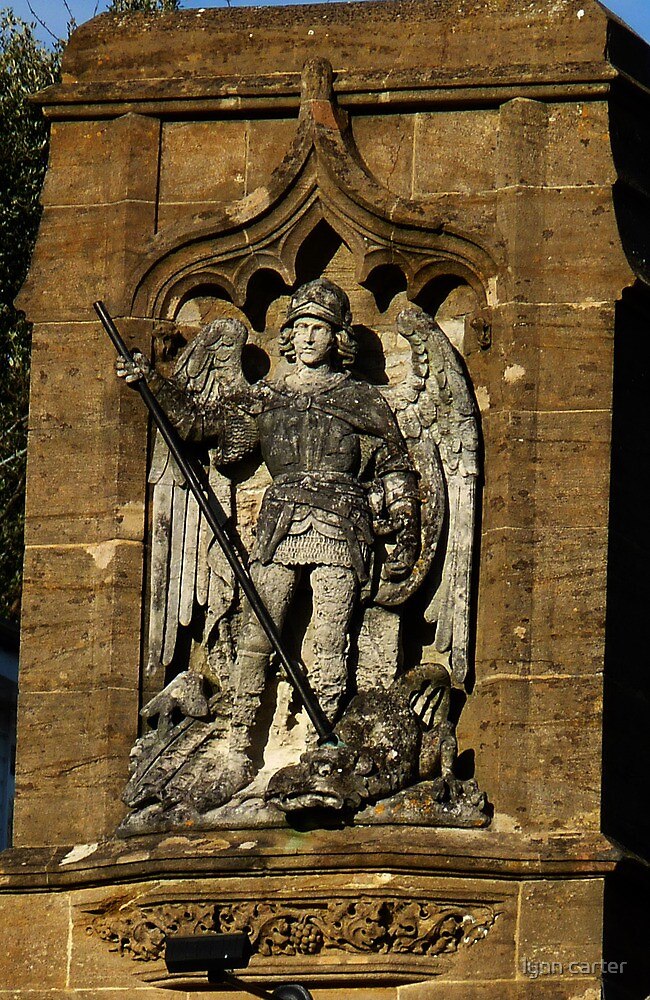 St  George And The Dragon Plaque by lynn carter
