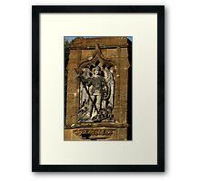 St  George And The Dragon Plaque Framed Print