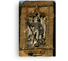 St  George And The Dragon Plaque Canvas Print