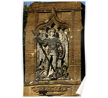 St  George And The Dragon Plaque Poster
