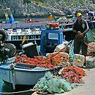 Fishermen - Puglia Italy by Debbie Pinard