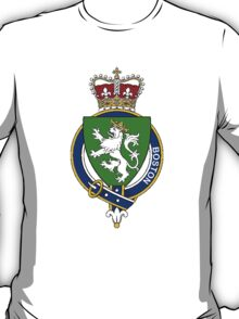 Coat of arms (family crest) for last-name or surname Boston (England) . Heraldry banner for your name. T-Shirt
