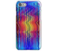 Blue Orange Yellow Waves iPhone Case/Skin