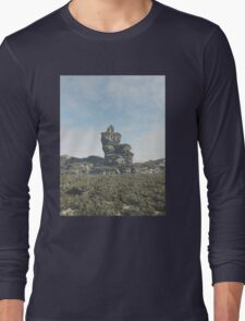 Ruined Tower on a Rocky Outcrop Long Sleeve T-Shirt