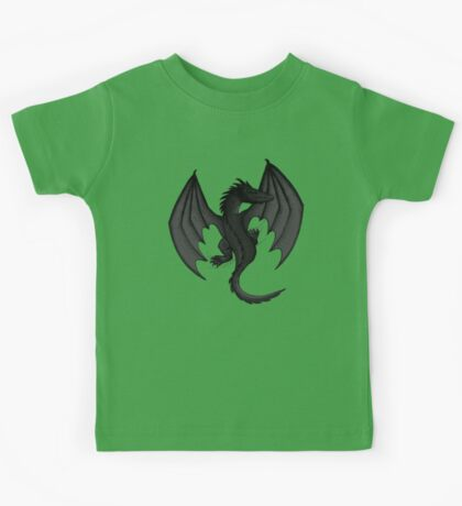 Charcoal Clinging Dragon Kids Tee