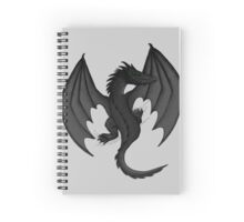 Charcoal Clinging Dragon Spiral Notebook