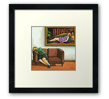 Contemporary figurative realism - The Rose Framed Print